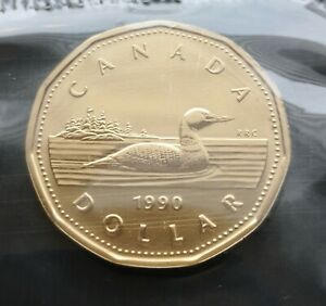CANADA-LOONIE-1990-PROOF-LIKE-SEALED-COIN
