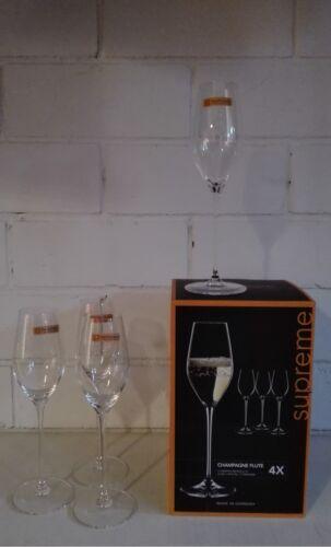 8 Bleikristall Champagnerkelche Nachtmann Supreme