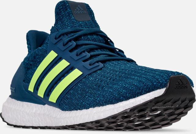 Men's Adidas Ultra Boost Running Shoes Legend Marine Blue Yellow Sz 9.5 F35234