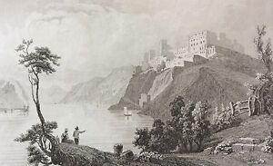 St-Goar-and-Ruins-Fortress-of-Rheinfils-Germany-Xixth-Germany-Deutschland