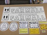 Farmall Model A Decal Set. Years 1945-48. Mylar See Details