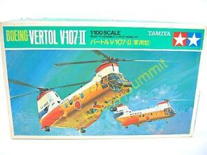 Vintage-1-100-Tamiya-SEA-KNIGHT-VERTOL-V-107II-Helicopter-Kit-PA1018