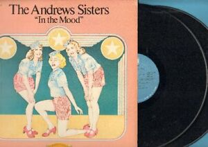 Andrews-Sisters-In-The-Mood-Vinyl-2-LP-Record-Free-Ship