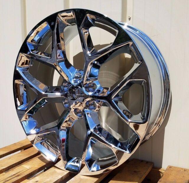22 Chrome Chevy Snowflake Sty Wheels Ck156 Gmc Sierra 1500 2015