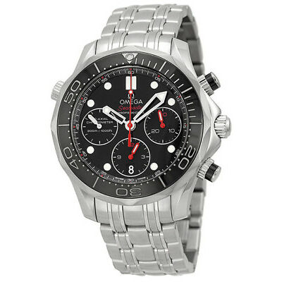 New Omega Seamaster Chronograph Black Dial Men's Watch 212.30.42.50.01.001