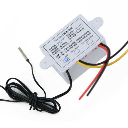 12//220V,Digital LED Temperature Controller 10A Thermostat Control Switch /& Probe