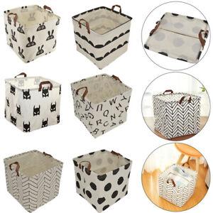 Pliable Tissu De Rangement Cube Box Tiroir Jouets Livres Vetements Organisateur A Faire Soi Meme Uk Ebay