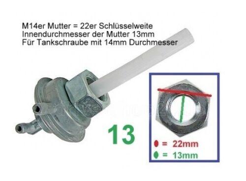 13mm BenzinHAHN Unterdruck für Yamati Mawi PGO CPI Keeway Generic ATU Roller 50