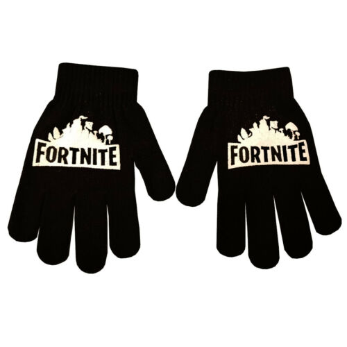 Boys Girl Teenager Fortnite Magic Gloves Ages From 3-16 Black Winter Cool White