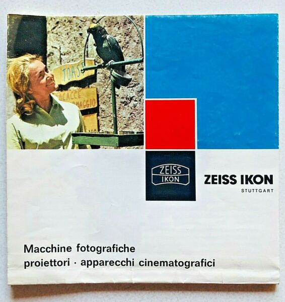 PréCis Zeiss Ikon Depliant Brochure Poster Vintage Italiano Contaflex Contessa Movilux