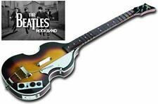 NEW Nintendo Wii Beatles Rock Band Hofner Wireless Bass Guitar & Dongle RockBand