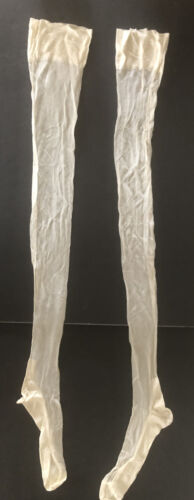 Antique Victorian Edwardian Fine Silk Stockings Lo