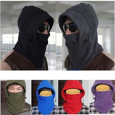 100% New 2017 Fashion Thermal Fleece 6in1 Balaclava Hood Police Swat Ski Mask KJ