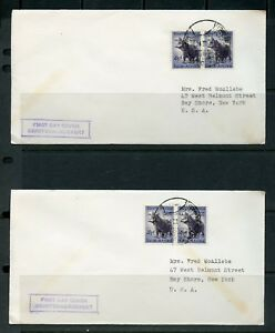 SOUTH-AFRICA-LOT-OF-THREE-FIRST-DAY-COVERS-ADRESSED-TO-NEW-YORK