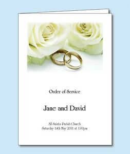 Personalised-Wedding-Order-of-Service-Day-Cover-Booklet-Gold-Rings-4-Designs