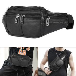 Grand-sac-banane-cuir-argent-taille-ceinture-pochette-voyage-Pack-portefeuille