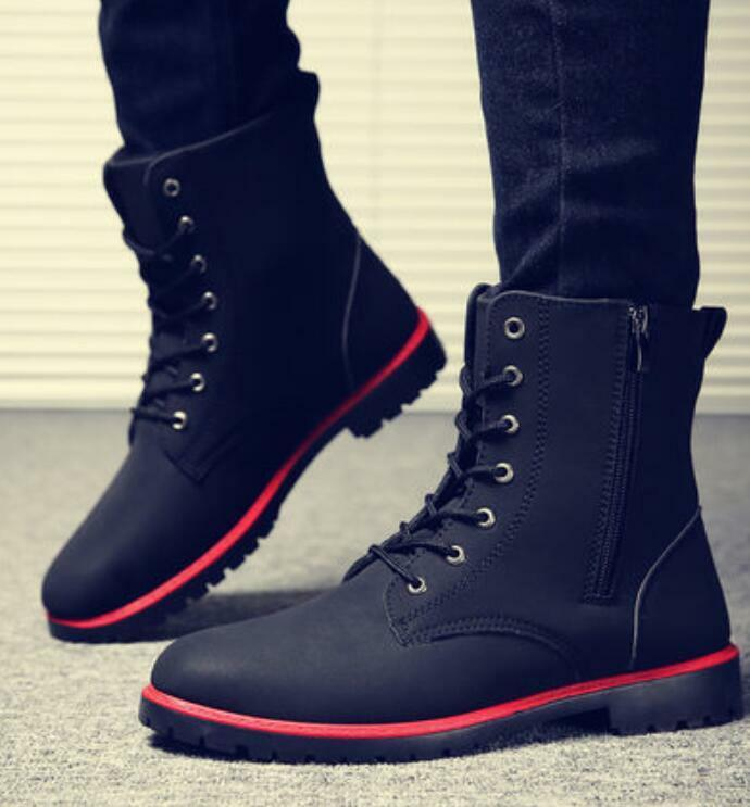 Men's Chukka Lace Up High Top Winter Warm Ankle Boots Casual shoes Fashion