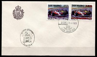 """Autorennen Fdc San Marino 1983 Mild And Mellow Großen Preis Von San Marino"""""""