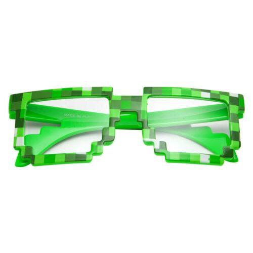 Details about  /grinderPUNCH Pixelated 8 Bit Sunglasses Clear Non Prescription Lens Kids Glasses