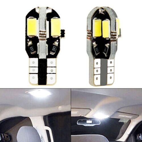 10x T10 8LED SMD Super White 194 168 158 W5W 2825 Car Side Wedge Light Lamp Bulb