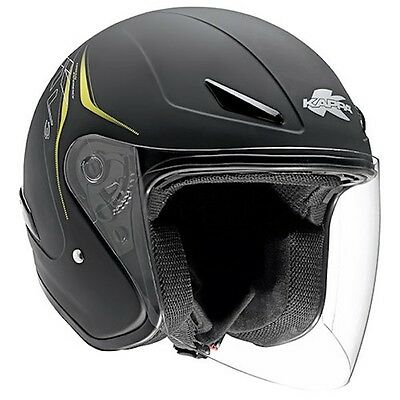 Kappa casco KV3 jet nero opaco taglia XL 61 moto scooter outlet