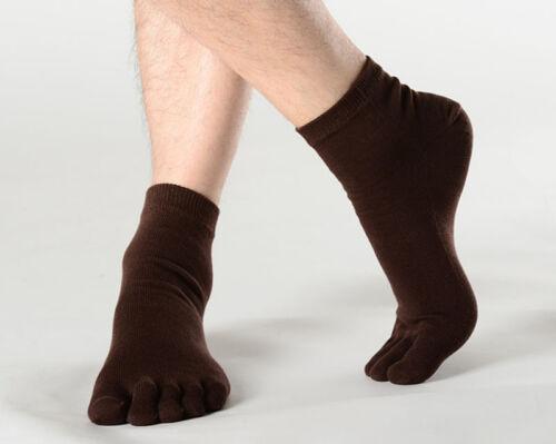 Men Socks Sports Five Finger Pure Cotton Socks Casual Separate Toe Socks Soft