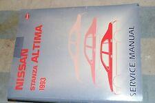 NISSAN 1993 STANZA ALTIMA FACTORY SERVICE MANUAL SM3E-0U13U0