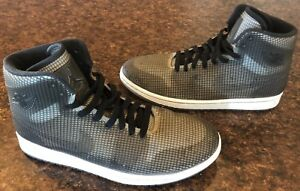 wholesale dealer f73a1 8f3d3 Image is loading Nike-Air-Jordan-4Lab1-Black-Reflect-Silver-3M-
