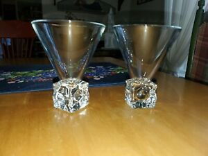 Vintage-Di-Saronno-Melting-Ice-Cube-Martini-Cocktail-Glasses-4-74-034-3-5-034
