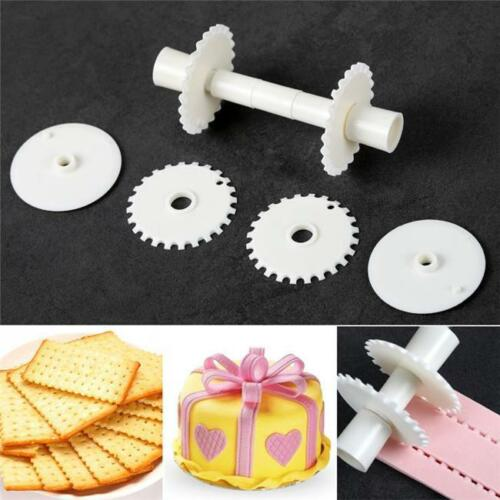 6Pcs DIY Fondant Strip Ribbon Cutter Embosser Roller Cake Decorating Tool P3