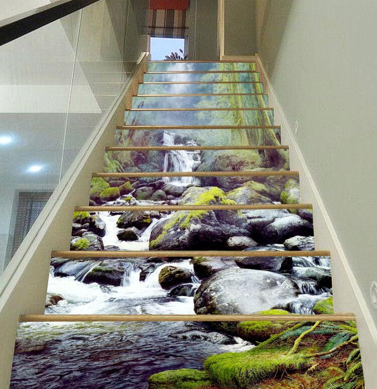 3D Strom Baum 3367 Stair Risers Dekoration Fototapete Vinyl Aufkleber Tapete DE