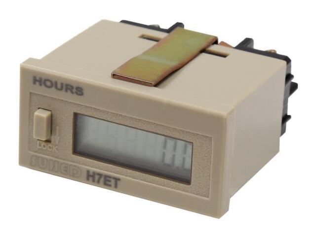 Einbau Betriebsstundenzähler Schaltimpuls oder Spannung, Stundenzähler digital