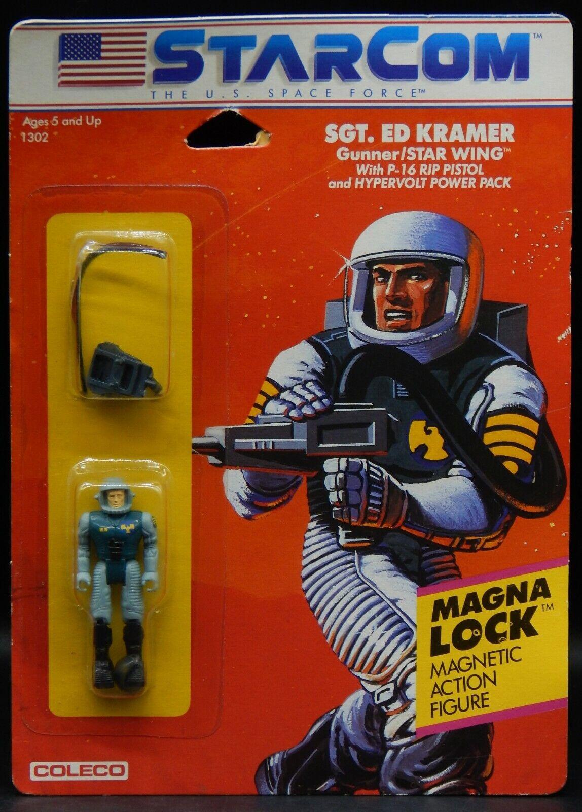 1986 vintage STARCOM Sgt. ED KRAMER action figure MOC Coleco sealed space force