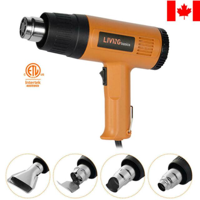 Air Heat Gun Dual Temperature Paint Stripper DIY Tool + 4 Nozzle Garden Tool Set