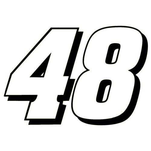 "4/"" Jimmie Johnson Number 48 Window Decals Vinyl Stickers Hendrick MotorSports"