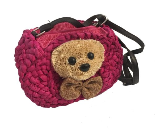 Kids Girls Straw Mini Shoulder bags Purses /& Wallets