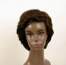 Perruque afro femme 100% cheveux naturel châtain ref LAET 05/6