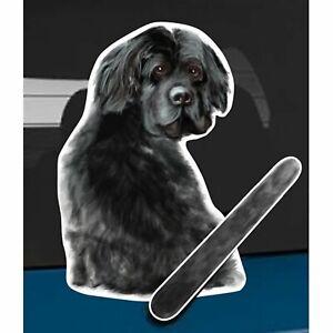 Newfoundland Dog Rear Car Window Sticker + Wagging Tail To Fit On Wiper Arm
