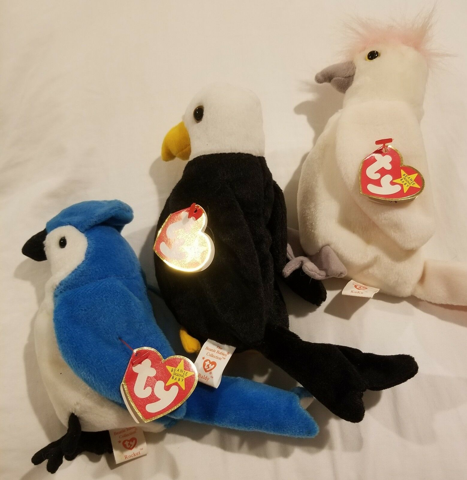 "TY Beanie Baby Set Including Rare ""Kuku"" w Tags Intact from Original Owner"