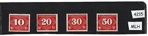 #4215 Menthe Légère Charnière Stamp Set/gouvernement Général Nazi Occupied Poland Rural Delivery-afficher Le Titre D'origine Luxuriant In Design