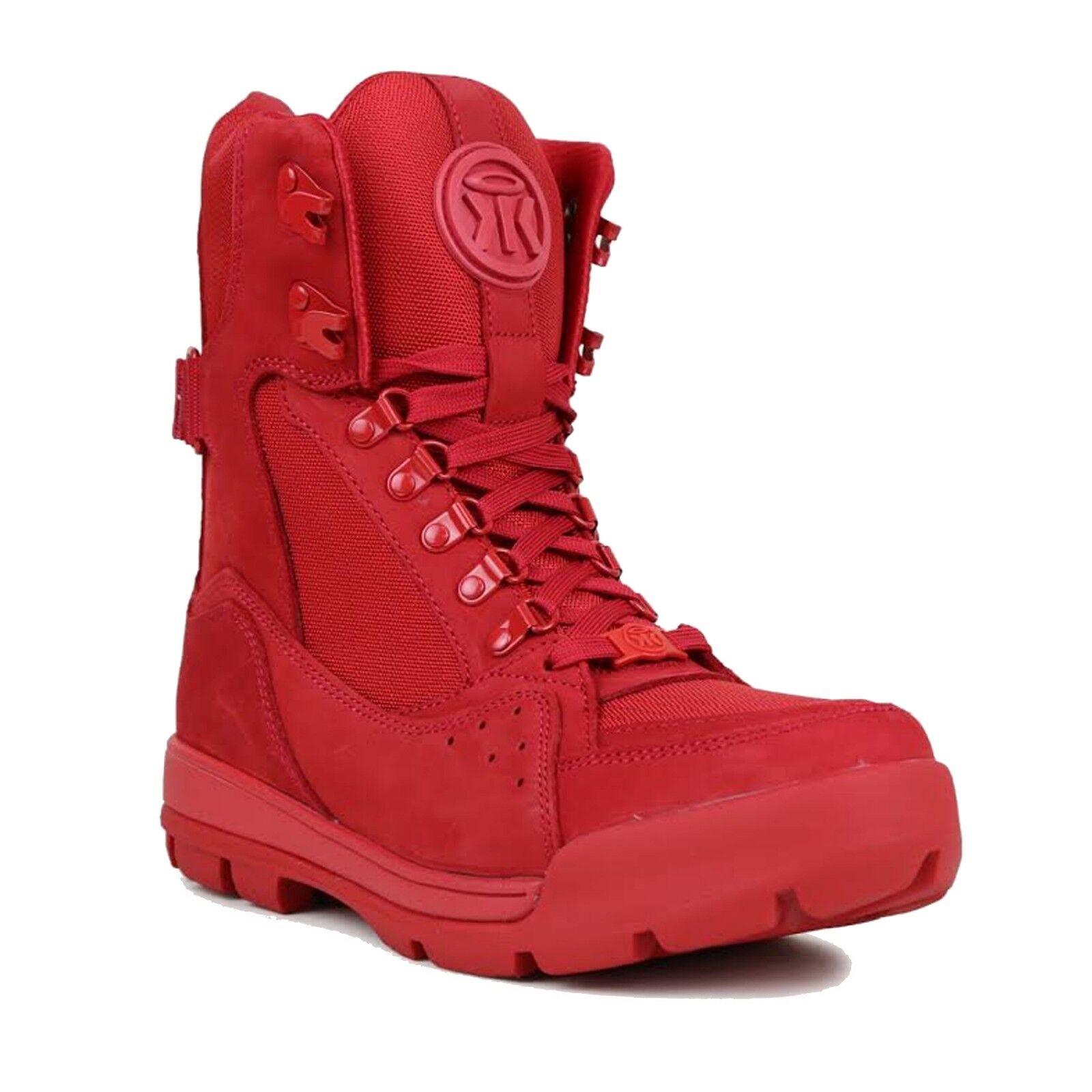 SUMIKKO Mens Venus Red Boots Red Size 11