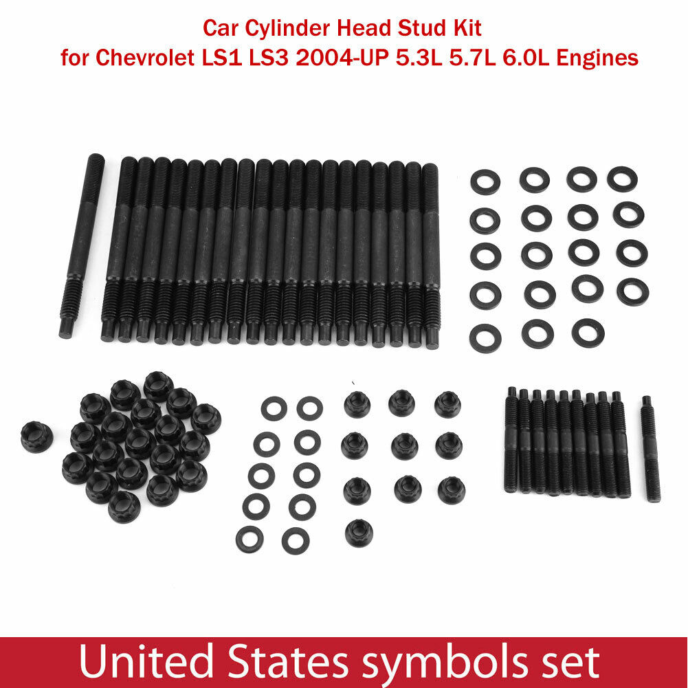 12-Point Cylinder Head Stud Kit For 2004-UP Chevy LS1 LS3 5.3L 5.7L 6.0L 33449