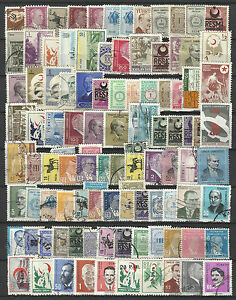 TURKEY-STAMP-COLLECTION-PACKET-of-100-DIFFERENT-Stamps-NICE-SELECTION