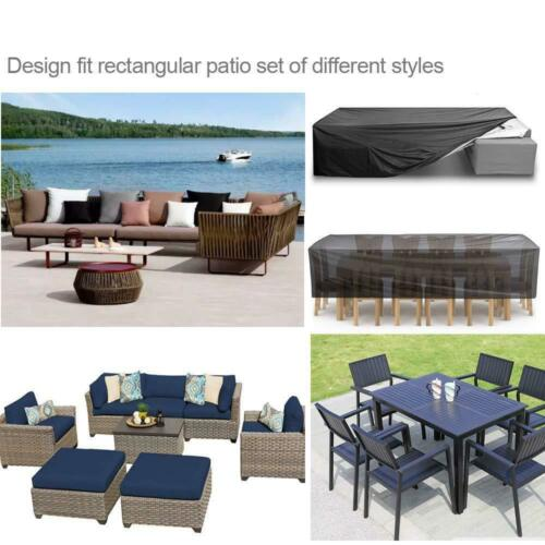 Waterproof Garden Patio Outdoor Furniture Sofa Couch Chair Table Covers Black