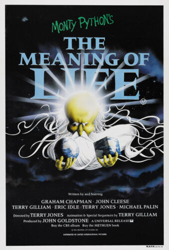 1983 Cult movie poster print Monty Python/'s The Meaning Of Life