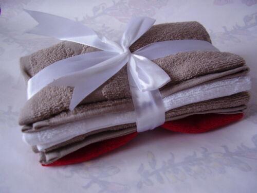 YVES ROCHER 4 x Gästehandtücher Handtuch Reisetuch  Tuch Tücher 40x33cm NEU
