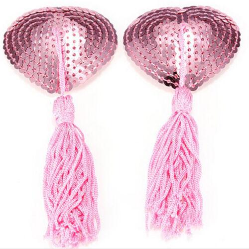 Tassle Pasties Nipple Covers Stick on Breast Bra Lingerie Lover J/& L/_D