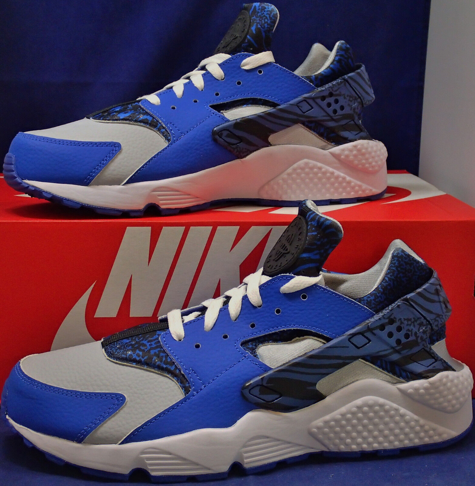 Nike Air Huarache Run iD Blue Light Grey White Price reduction New shoes for men and women, limited time discount