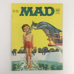 Mad Magazine October 1965 No. 98 Flapper The Dolphin No Label Fine FN 6.0