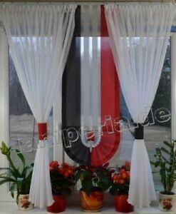 Details zu Moderne Gardinen Wohnzimmer Fensterdekoration Rot Fenster 80  -140 Nr. 497